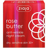 Ziaja Rose Butter Anti-Wrinkle Night Cream 50Ml