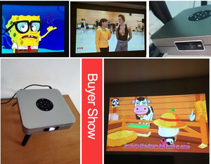 WZATCO D1 DLP 3D Projector 300inch Home Cinema support Full HD 1920x1080P,32GB Android 5G WIFI AC3 Video Beamer MINI Projector