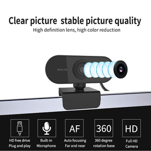 HD 1080P Webcam with Microphone Live Broadcast Video Calling Conference Work
