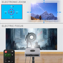 Load image into Gallery viewer, WZATCO D1 DLP 3D Projector 300inch Home Cinema support Full HD 1920x1080P,32GB Android 5G WIFI AC3 Video Beamer MINI Projector