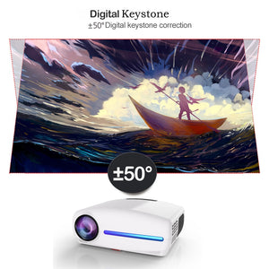 WZATCO C2 1920*1080P Full HD 200inch AC3 4D keystone LED Projector android 10.0 Wifi Portable 4K Home theater Beamer Proyector
