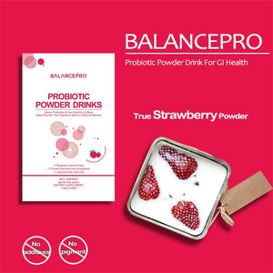 Lactobacillus daily vitamins Strawberry Probiotic Powder Drink