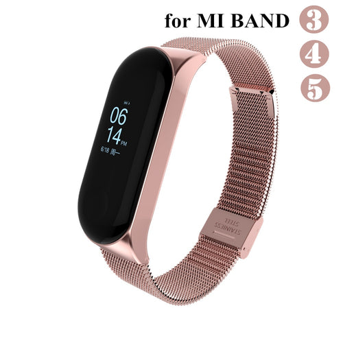 Mi band 3 4 5 Strap Metal for Xiaomi Mi Band 5 4 3 Bracelet Screwless Xiaomi Mi Band 4 Bracelet Correa Xiomi MiBand 3 Wrist Band