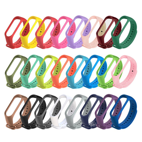 Colour Silicone Bracelet for Xiaomi Mi Band 3 4 5 Sport Strap