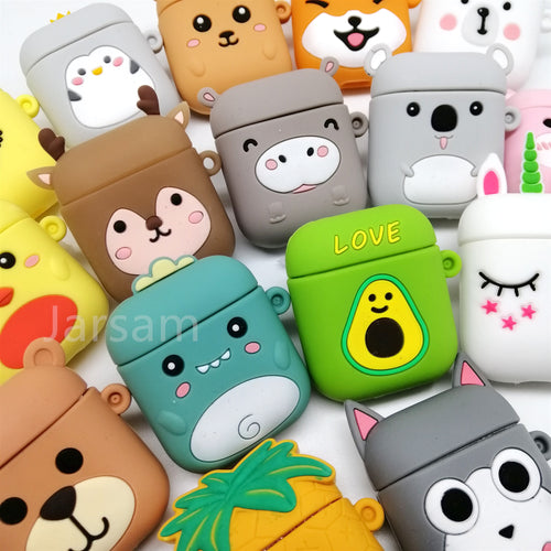 Cartoon Cute Earphone Case For AirPod 2 1 case Silicone Charging