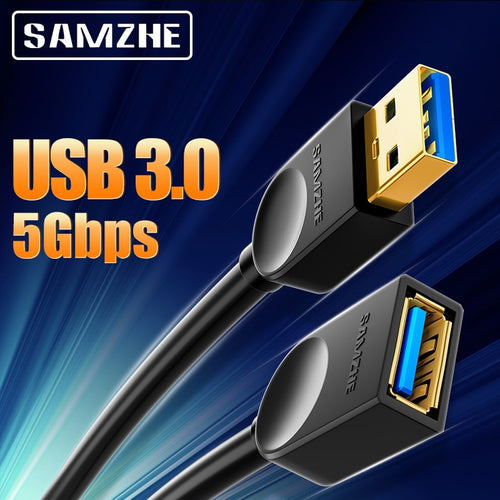 USB 3.0 Extension Male to Female 2.0 Extender Cable   For PC TV PS4 Computer Laptop Extender