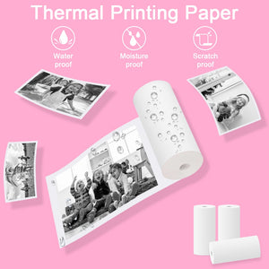 PROGRACE 9 Rolls 20 Rolls Thermal Printing Paper for Kid Camera Kid's Printing Camera Girl's Gift