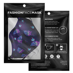 PVCF 2020 Fizzy Glitch Face Mask with Nosewire & Filters