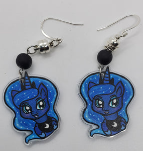 Interchangeable Swap & Style 1.5 inch Clear Acrylic Charm Set - (earring/pendant/pin/magnet/keychain/ornament)