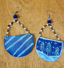 Load image into Gallery viewer, Snowy Pines One Of A Kind Reversible Statement Earrings - (READY TO SHIP)