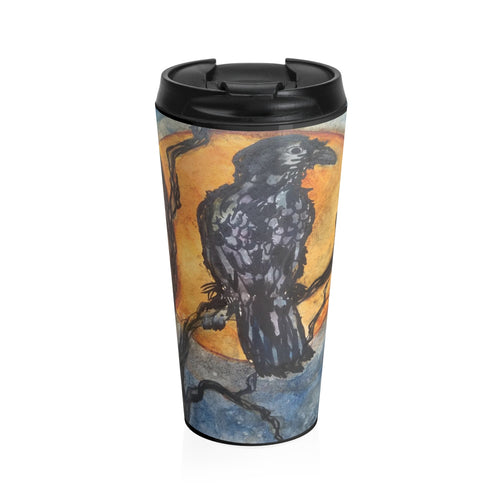 Raggedy Raven Stainless Steel Travel Mug