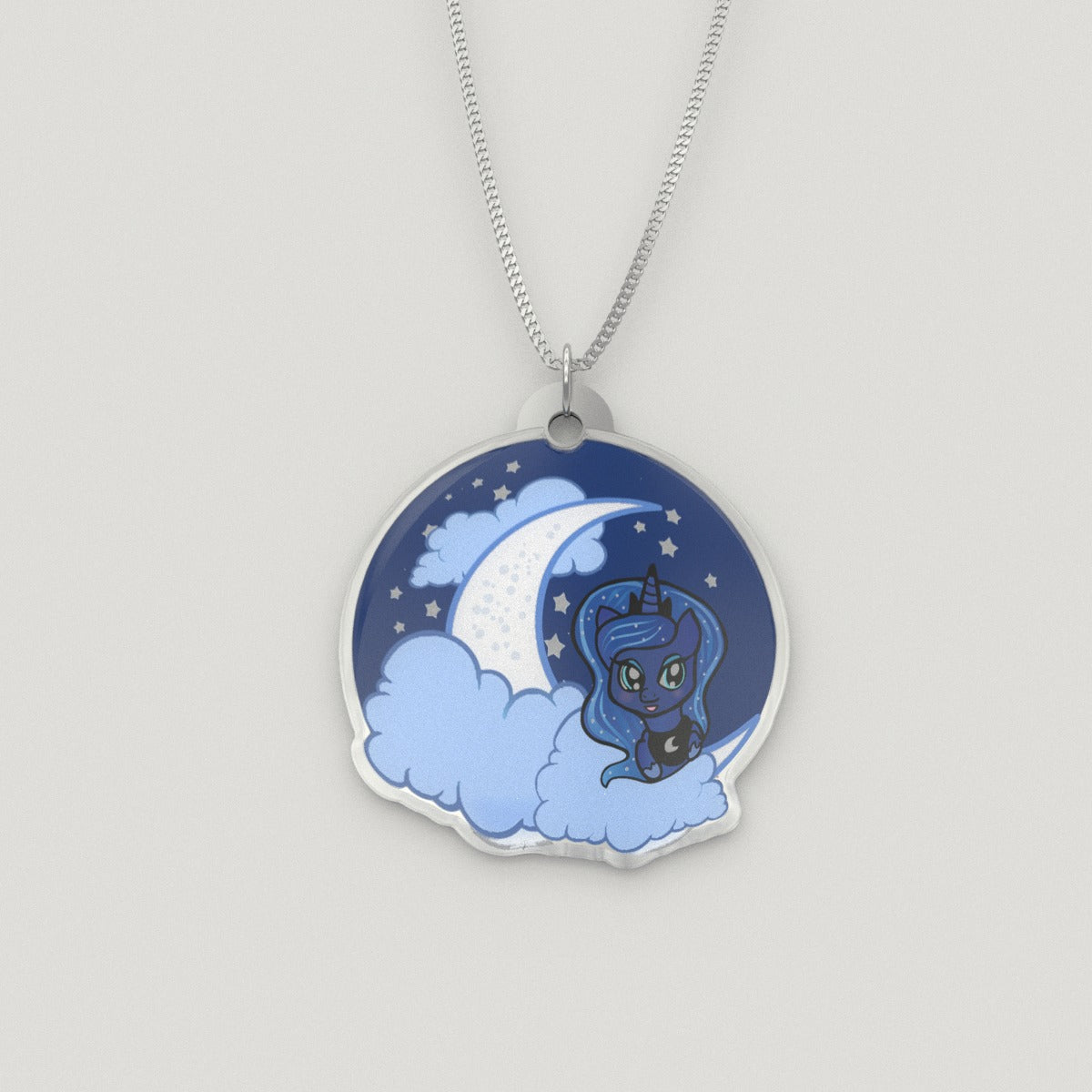 Sterling Silver Princess Luna Pendant Necklace