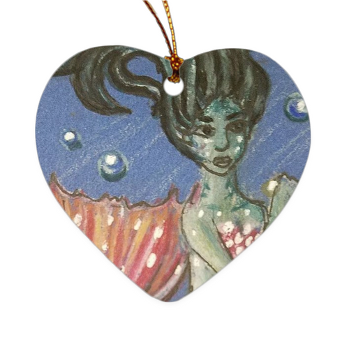 Double Sided Ceramic Ornament- Coraline