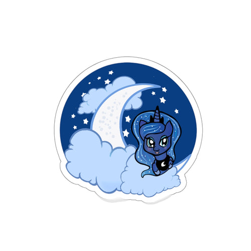 Princess Luna Moon Kiss Cut  Sticker