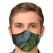 Load image into Gallery viewer, Watercolor mage fashion face mask with nose fire and carbon filters- Ships Fast