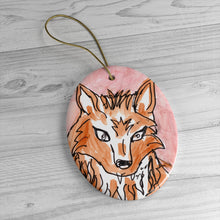 Load image into Gallery viewer, Fox Ceramic Ornament