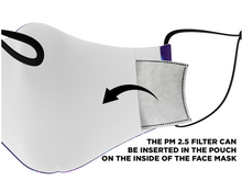 Load image into Gallery viewer, PVCF 2020 Fizzy Glitch Face Mask with Nosewire & Filters