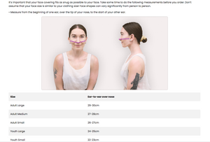 Fizzy Glitch Face Mask - Without Filters & Nosewire