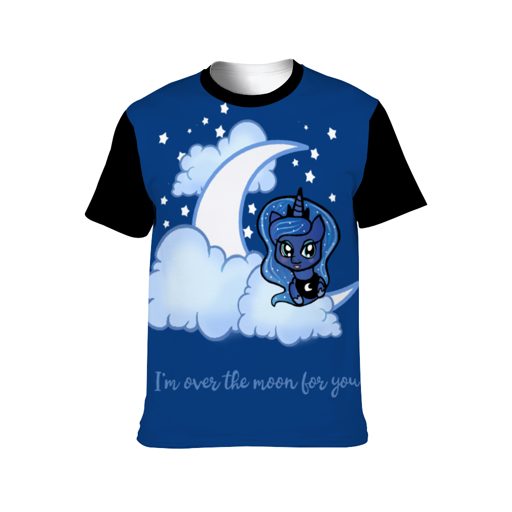 Over The Moon All Over Printed Unisex T-shirt