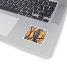 Load image into Gallery viewer, Raggedy Raven Square Sticker