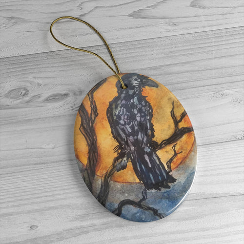Raggedy Raven Ornament