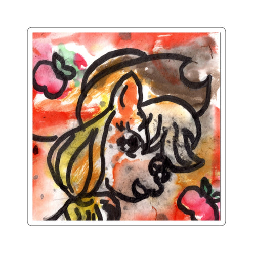 Applejack Watercolor Splash Sticker