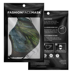 Watercolor mage fashion face mask with nose fire and carbon filters- Ships Fast