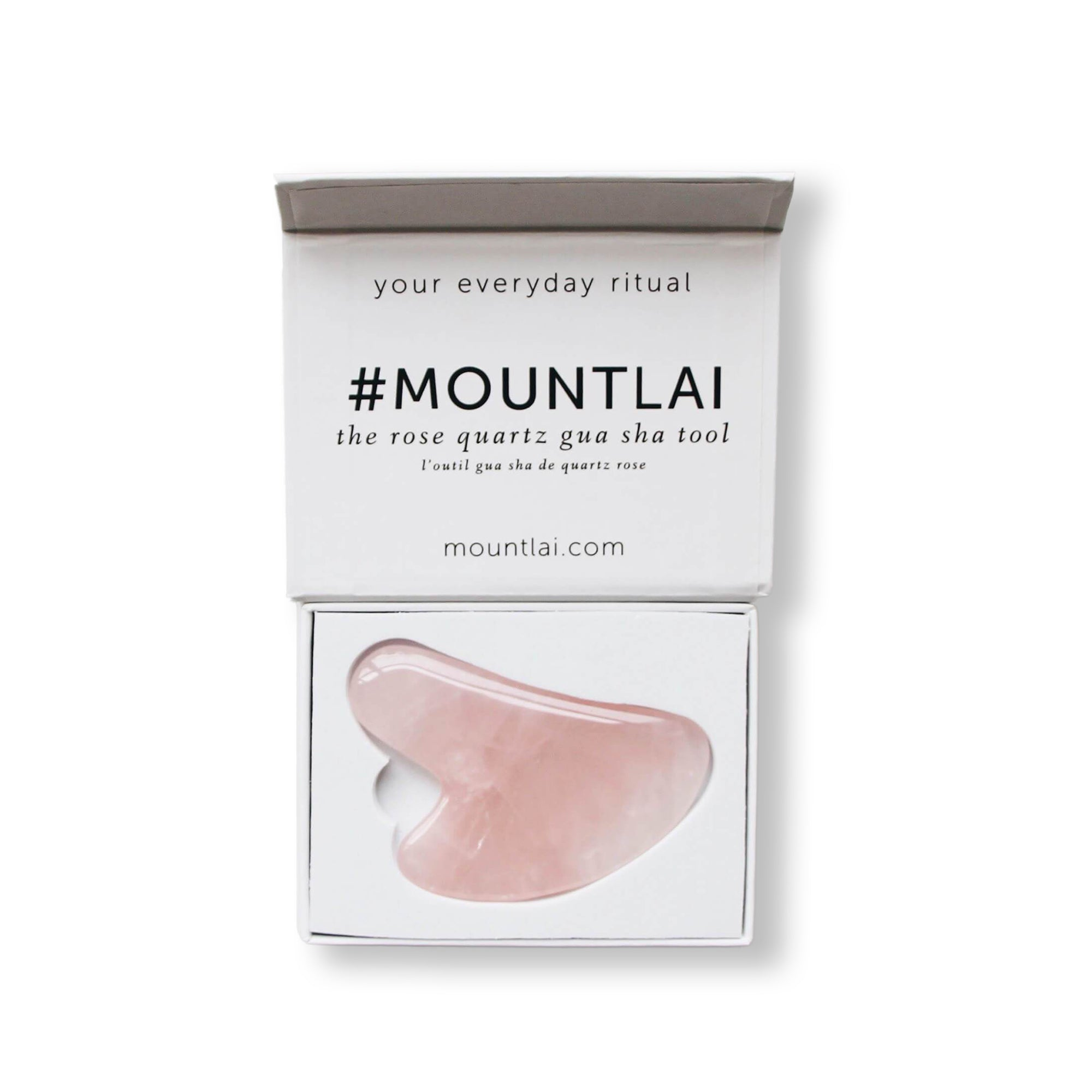 Rose Quartz Gua Sha Facial Lifting Tool