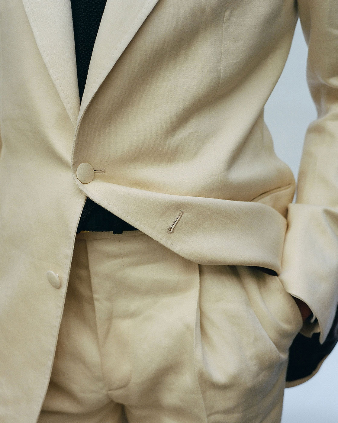 P Johnson Linen Suit Butter Yellow