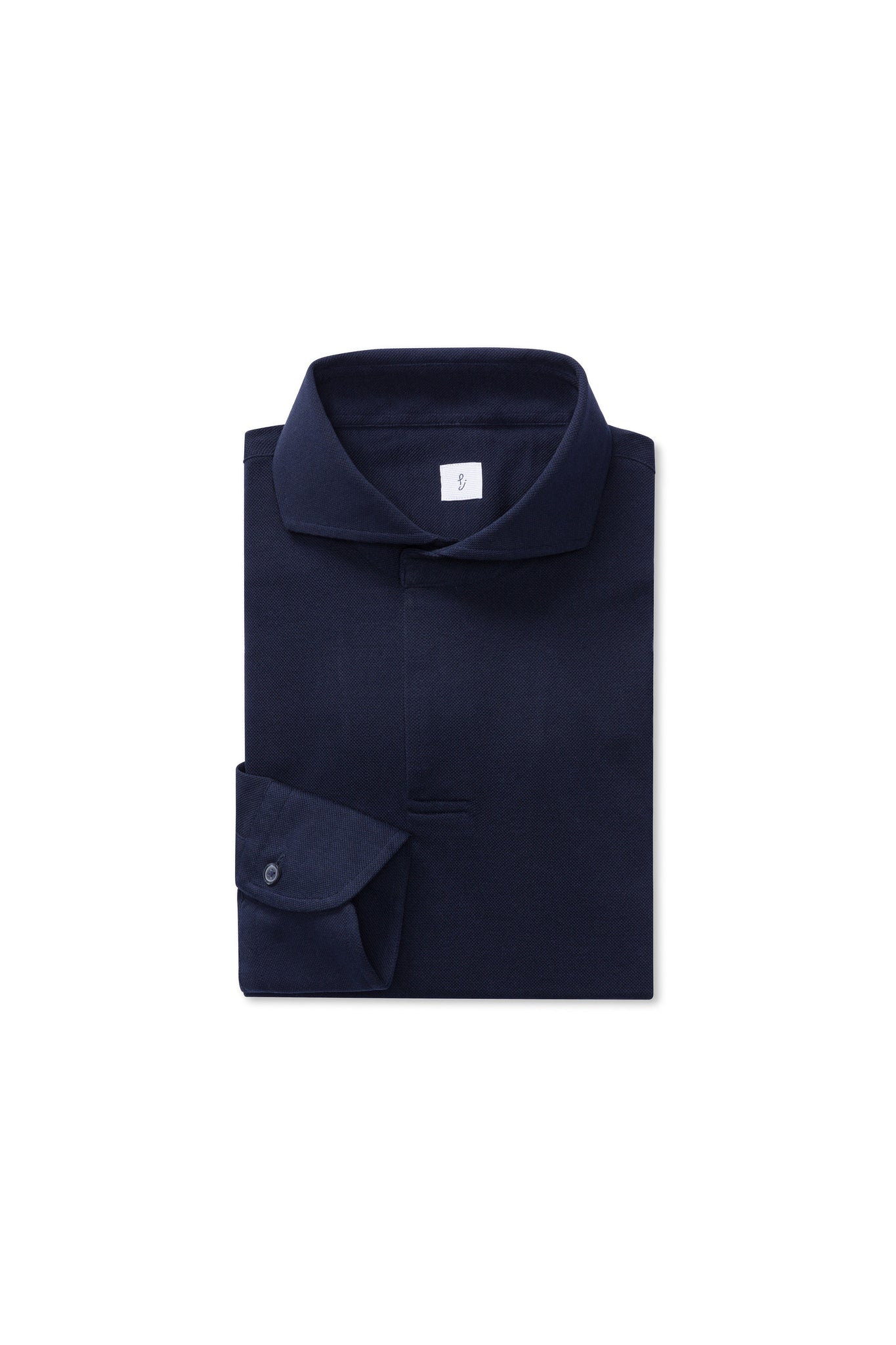 Navy Cotton Pique Polo Shirt