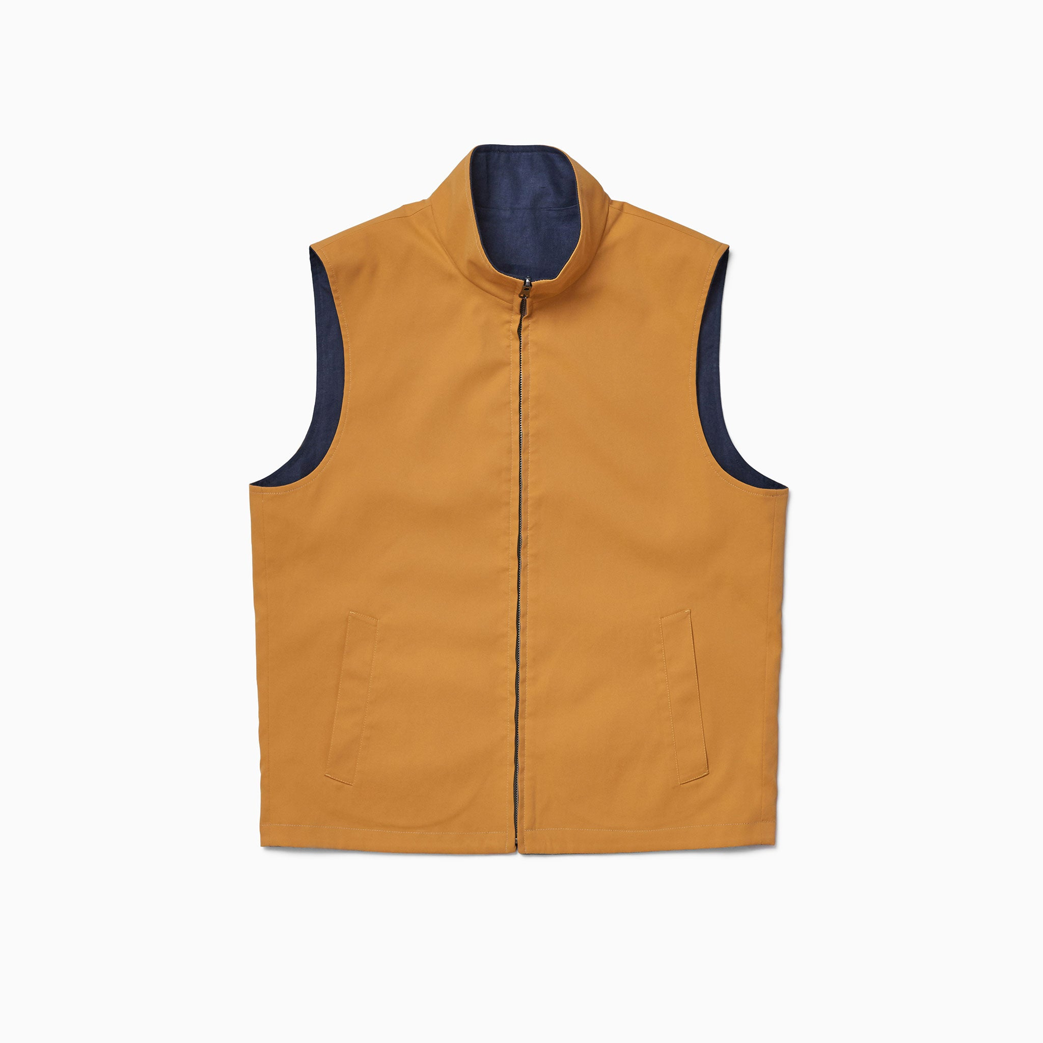 Yellow / Navy Reversible Gilet