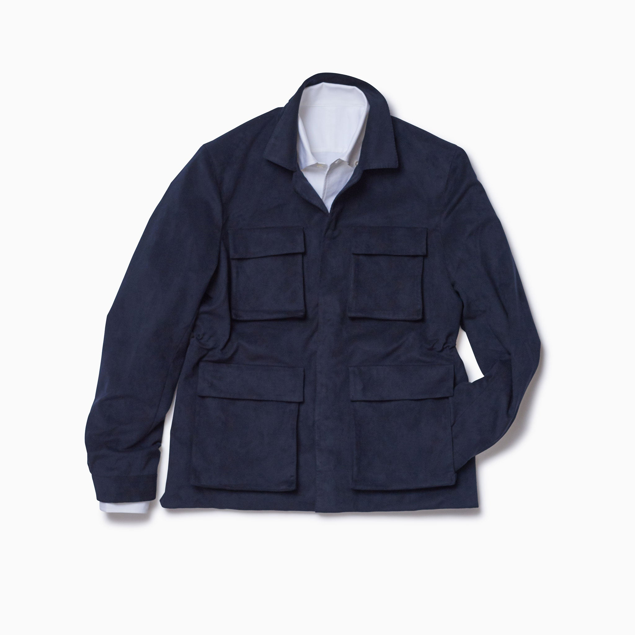 "Navy ""Vegan Suede"" Mountain Coat"
