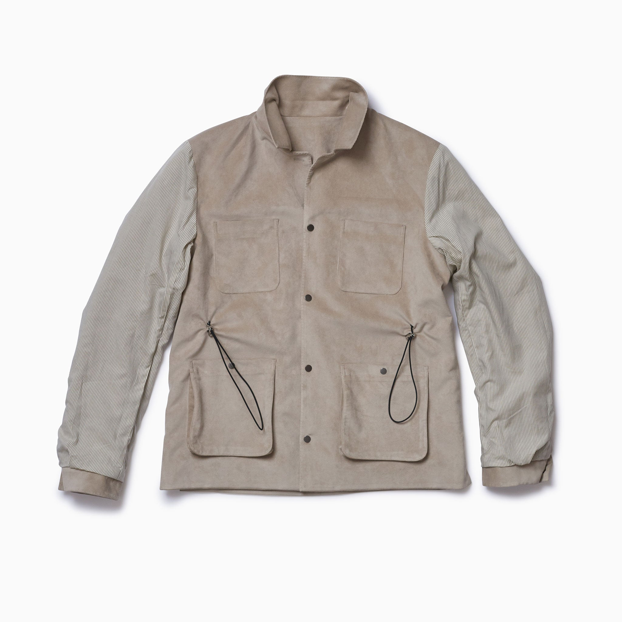 "Beige ""Vegan Suede"" Mountain Coat"