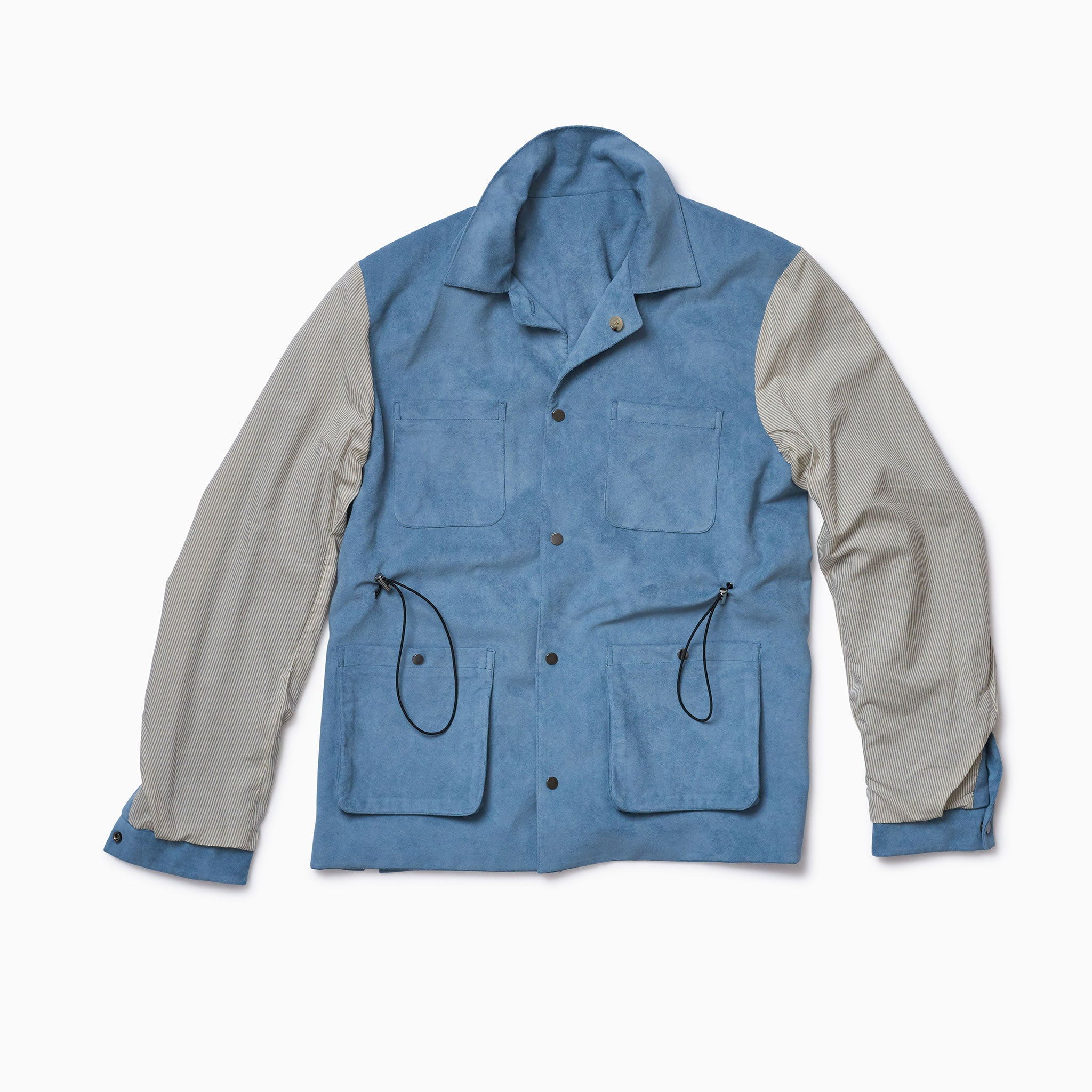 "Mid Blue ""Vegan Suede"" Mountain Coat"