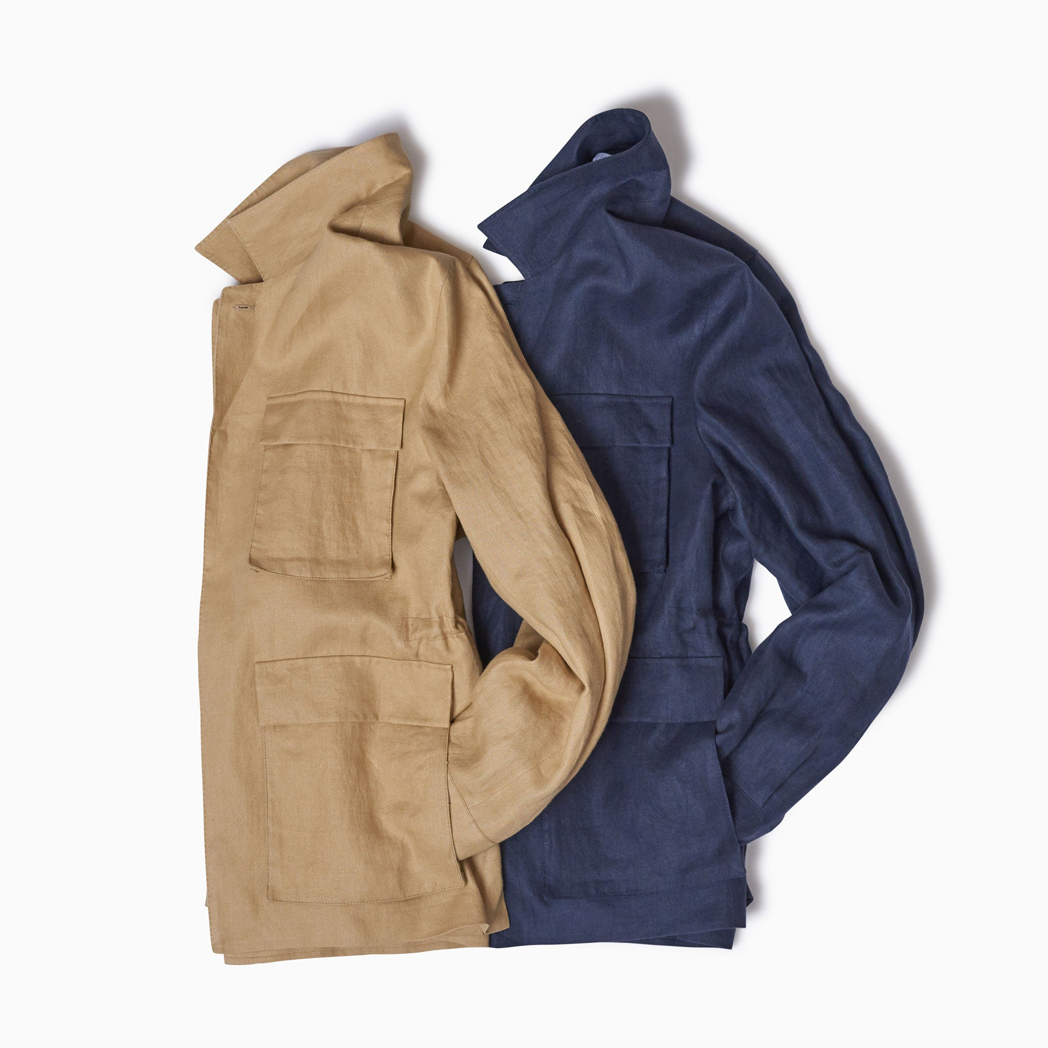 Navy Linen Mountain Coat