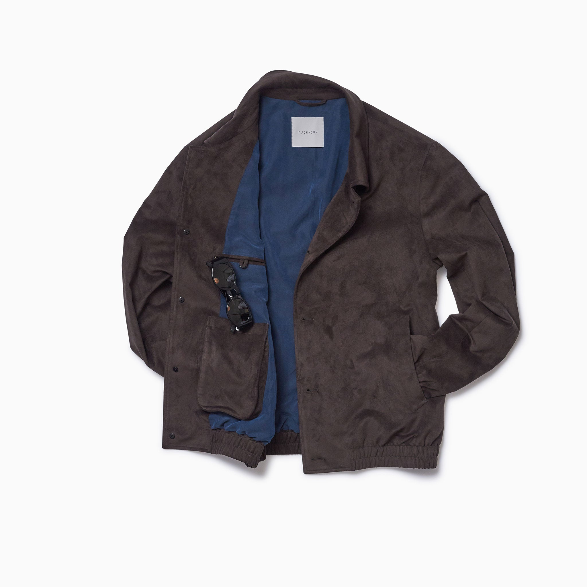 "Chocolate ""Vegan Suede"" Blouson"