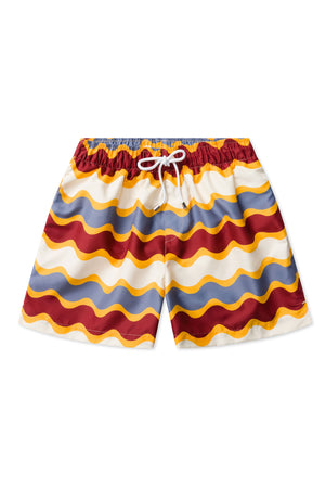 Burgundy Wave Swimmers