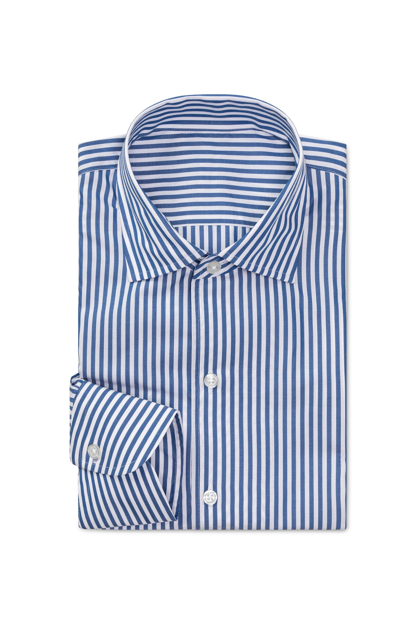 Denim Tone Poplin Stripe Made to Order Shirt