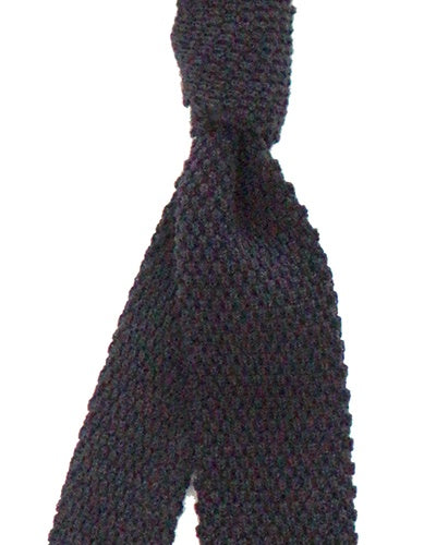 Navy Wool Knit Tie