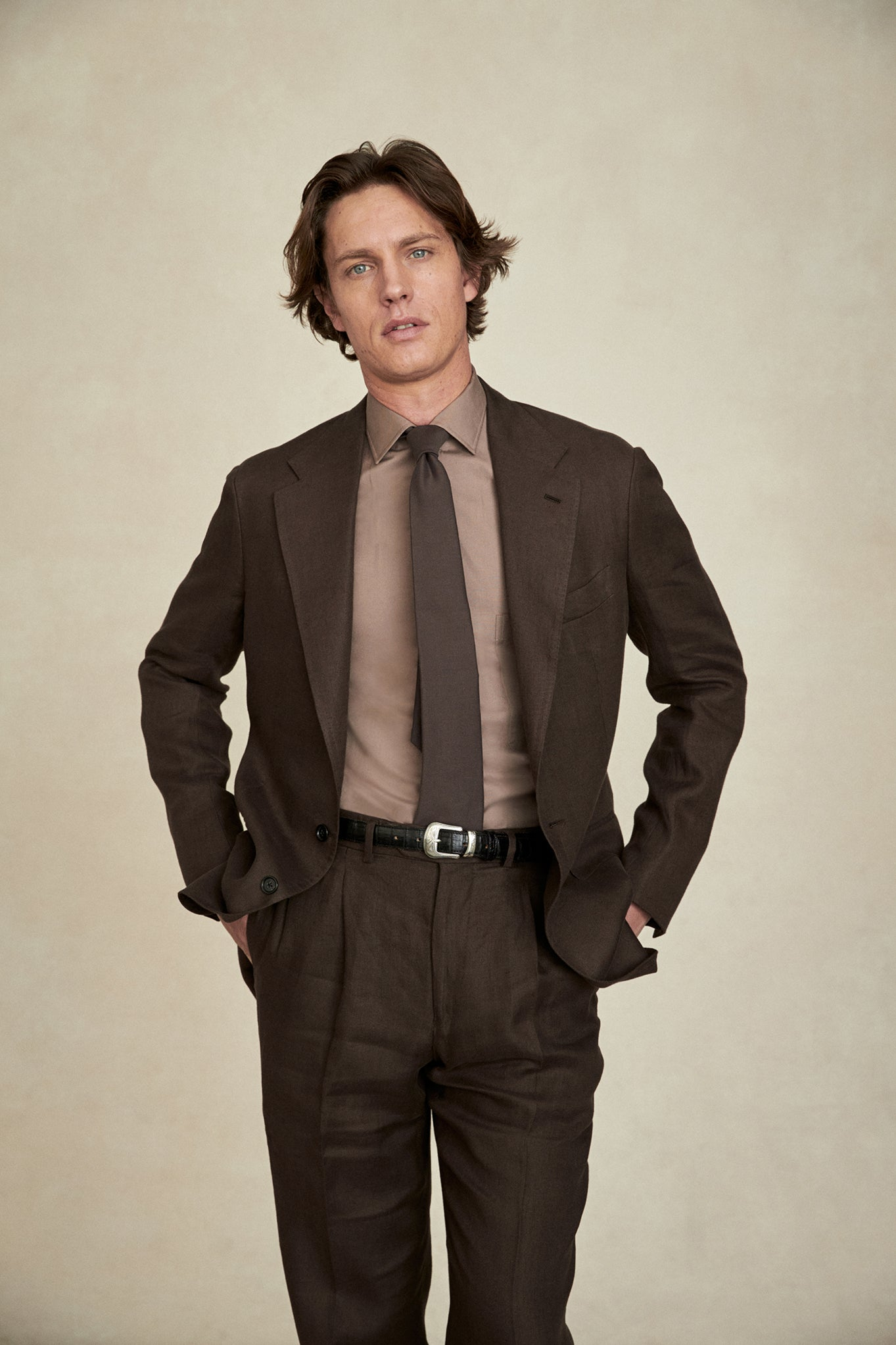 Brown Irish Twill Suit