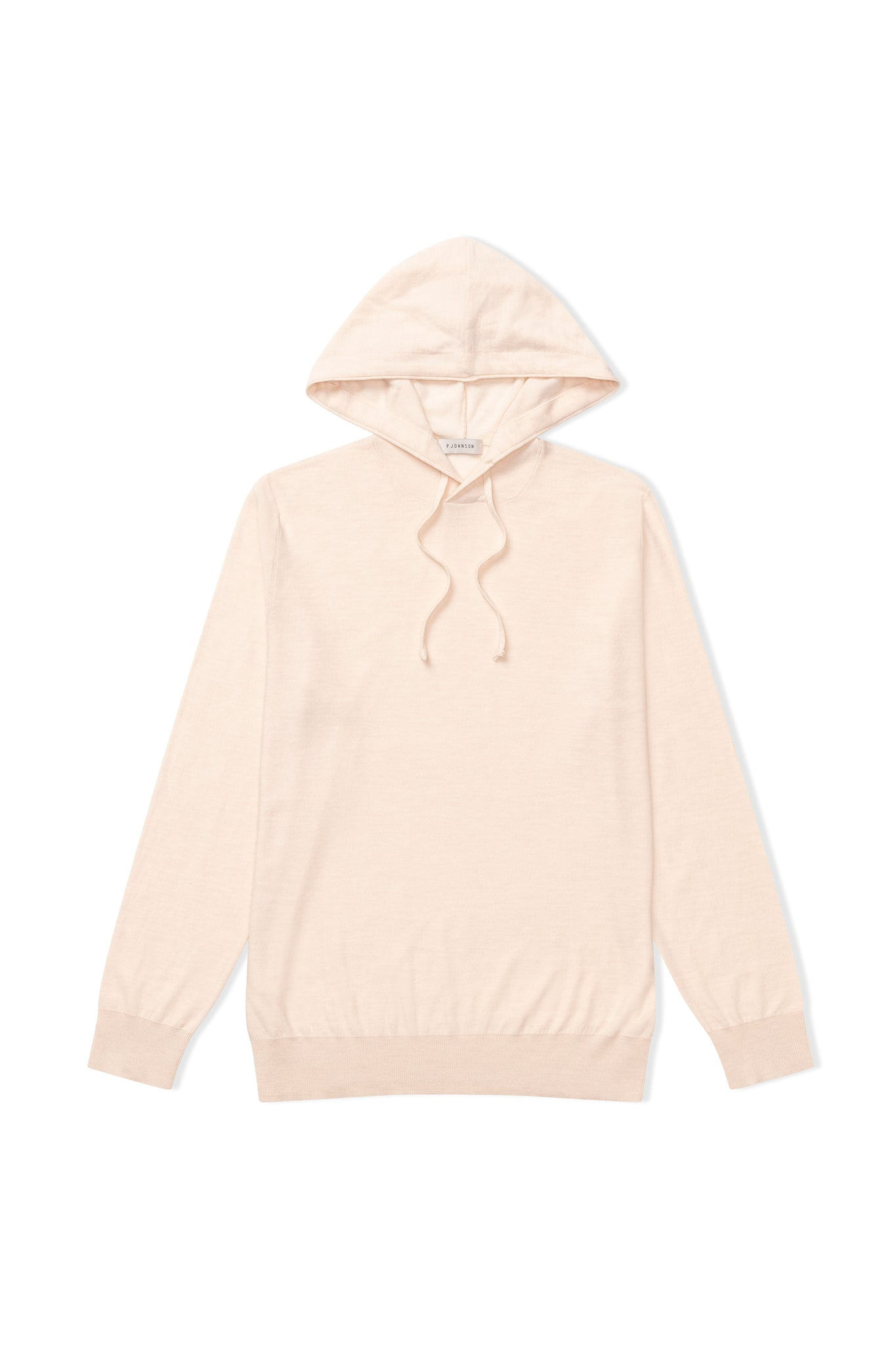 Beige Merino Hooded Jumper