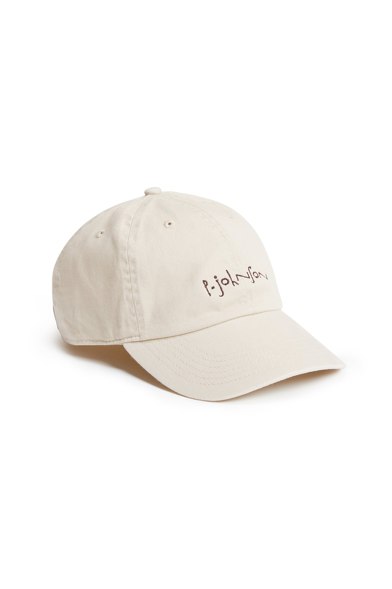 Beige Dad Cap with Brown logo