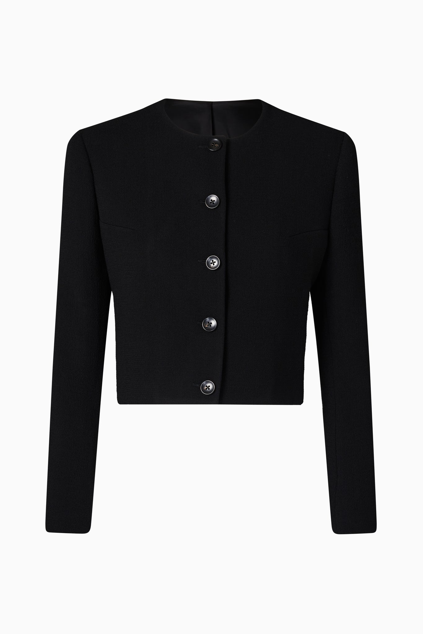 Black Crepe Corta Jacket