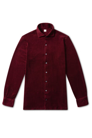 Burgundy Terry Towel Shirt