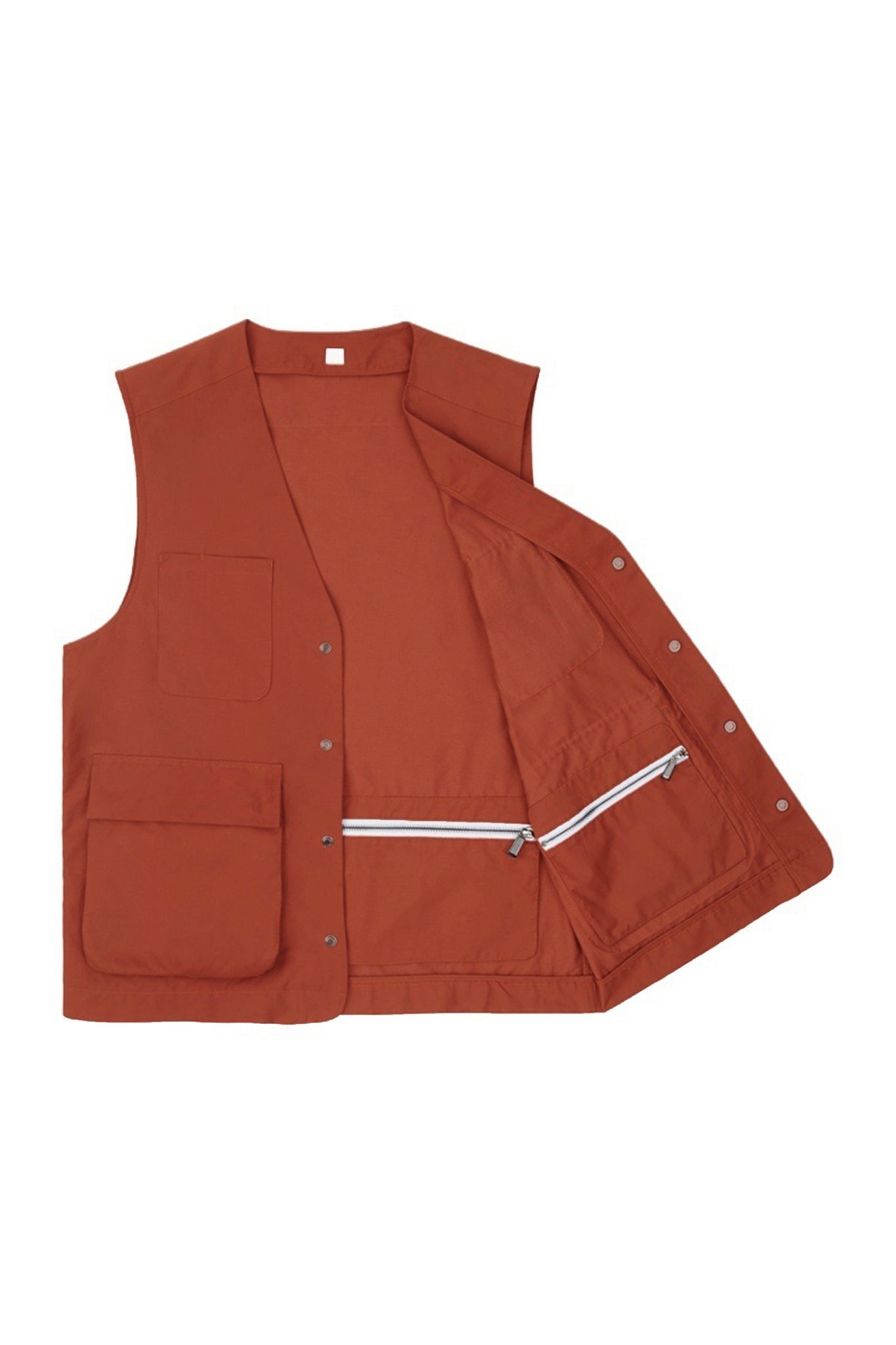 Brick Red Weatherproof Utility Vest
