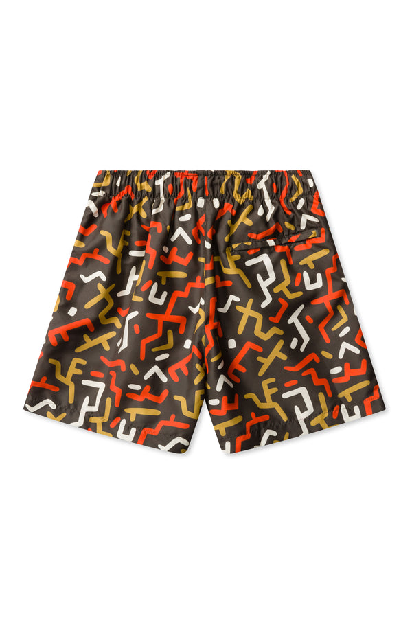Congo Print with Brown Base Swimmers