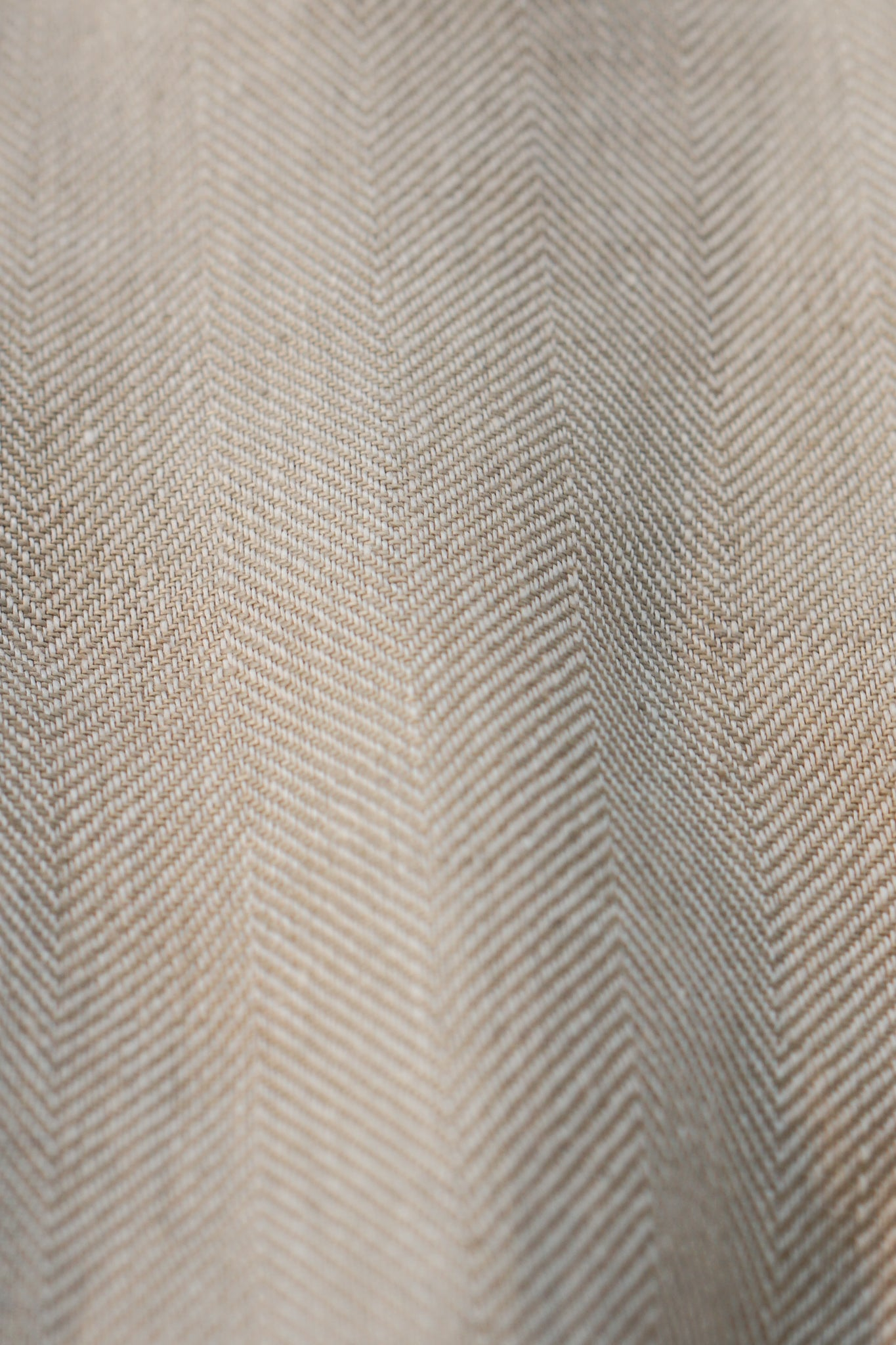 Beige Herringbone Irish Linen Suit