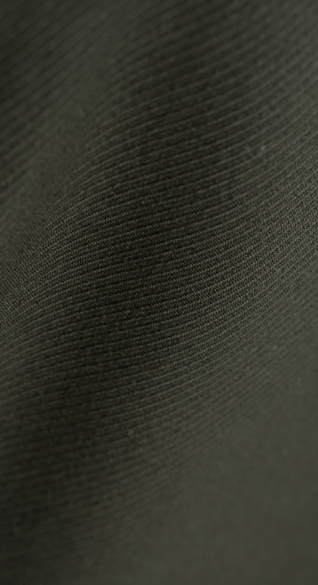Dark Green Cavalry Twill Overcoat