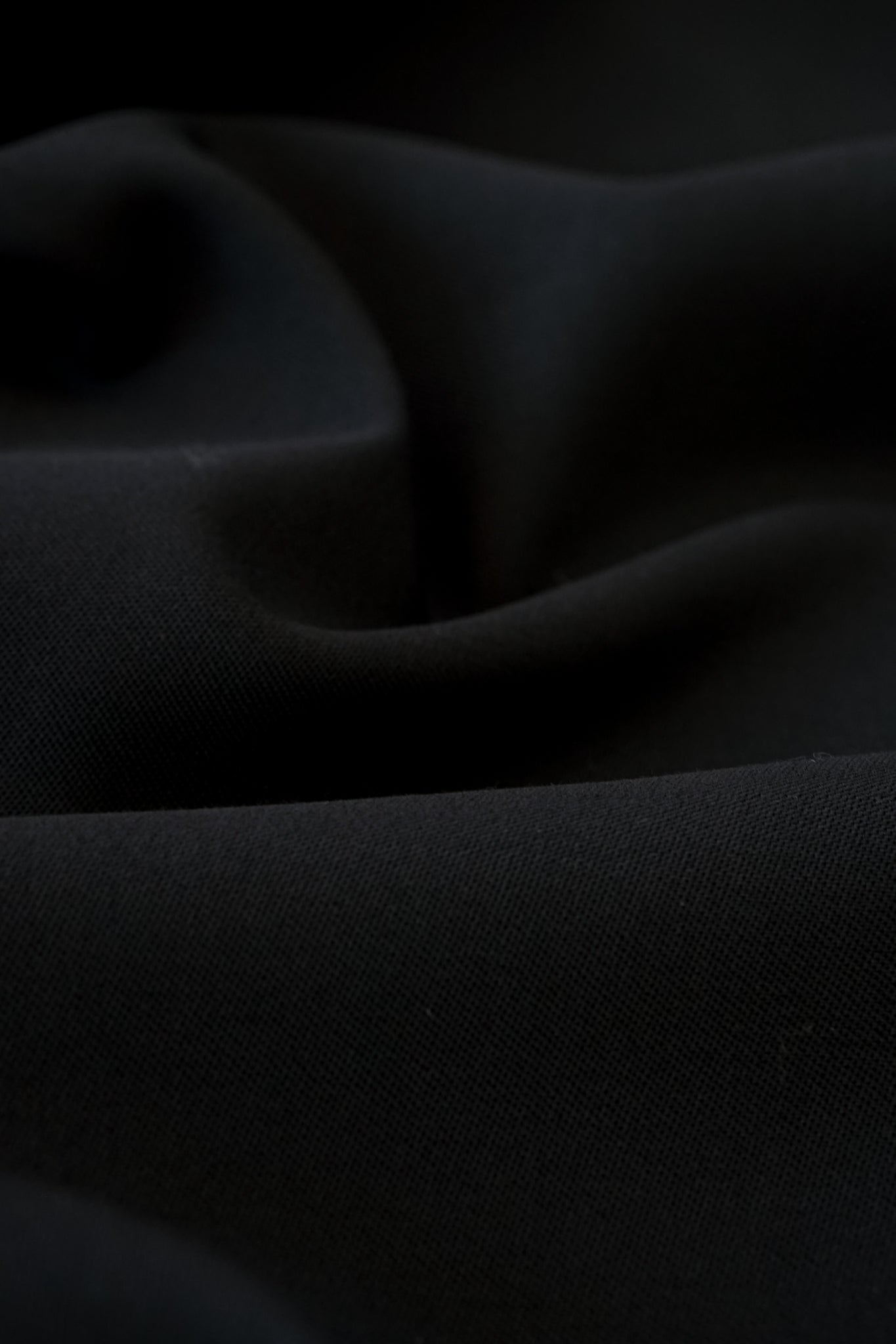 """Black black"" Merino Trousers"