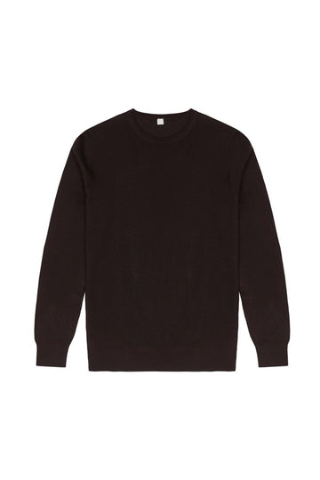 Dark Brown Merino Wool Pullover